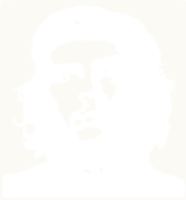 unbridged layer 1 of stencil of Che Guevara