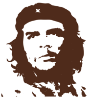 unbridged layer 3 of stencil of Che Guevara