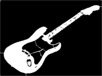 bridged layer 1 of stencil of Stratocaster