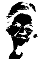 bridged layer 1 of stencil of Elizabeth Warren
