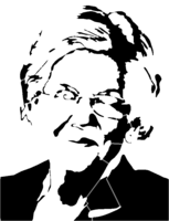 bridged layer 2 of stencil of Elizabeth Warren
