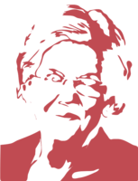 unbridged layer 2 of stencil of Elizabeth Warren