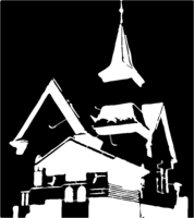 bridged layer 1 of stencil of Country Church