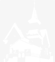 unbridged layer 1 of stencil of Country Church