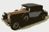 stencil of 1930 Packard
