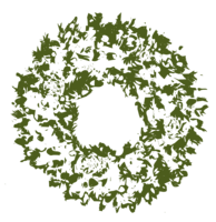 unbridged layer 4 of stencil of Christmas Wreath
