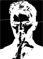 bridged layer 1 of stencil of David Bowie