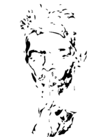 bridged layer 3 of stencil of David Bowie