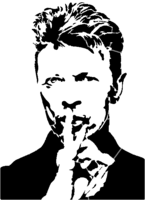 bridged layer 4 of stencil of David Bowie