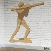 simulated stencil painting of Bazooka