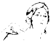 bridged layer 4 of stencil of Elizabeth Warren