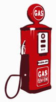 stencil of Gas Pump