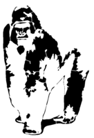 bridged layer 2 of stencil of Gorilla