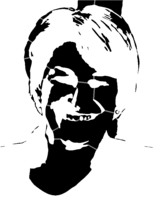 bridged layer 2 of stencil of Amy Klobuchar