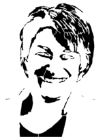 bridged layer 3 of stencil of Amy Klobuchar