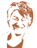 unbridged layer 3 of stencil of Amy Klobuchar