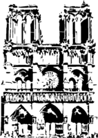 bridged layer 2 of stencil of Notre Dame