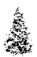 bridged layer 5 of stencil of Christmas Tree
