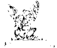 bridged layer 4 of stencil of German Shepherd