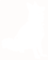 unbridged layer 1 of stencil of German Shepherd