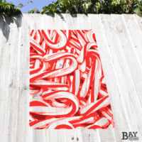 simulated stencil painting of Candy Canes