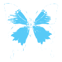 unbridged layer 2 of stencil of Ulysses Butterfly