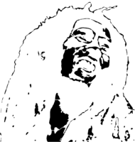 bridged layer 3 of stencil of Bob Marley