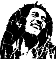 bridged layer 5 of stencil of Bob Marley
