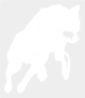 unbridged layer 1 of stencil of Jumping Wolf