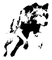 bridged layer 5 of stencil of Jumping Wolf