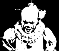 bridged layer 4 of stencil of Pennywise