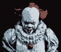stencil of Pennywise