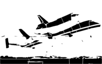 bridged layer 2 of stencil of Space Shuttle