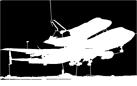 bridged layer 1 of stencil of Space Shuttle