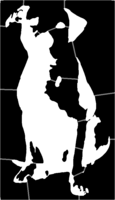 bridged layer 1 of stencil of Pit Bull