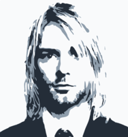 stencil of Kurt Cobain