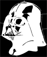 bridged layer 1 of stencil of Darth Vader