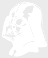unbridged layer 1 of stencil of Darth Vader