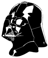 bridged layer 2 of stencil of Darth Vader