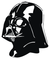 unbridged layer 2 of stencil of Darth Vader