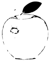 bridged layer 2 of stencil of Apple