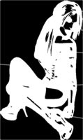 bridged layer 1 of stencil of Seated Woman