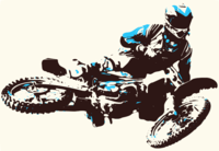 stencil of Motocross Rider