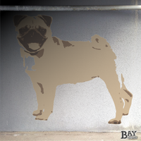 painted stencil art of Pug
